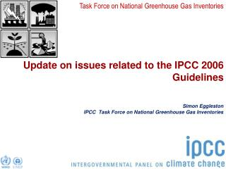 Update on issues related to the IPCC 2006 Guidelines