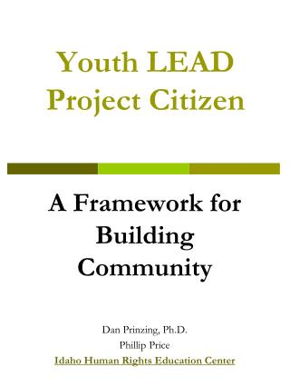 Youth LEAD Project Citizen