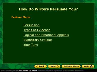 How Do Writers Persuade You?