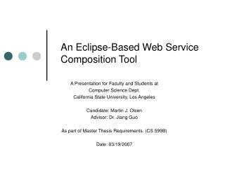 An Eclipse-Based Web Service Composition Tool