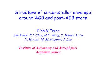 Structure of circumstellar envelope around AGB and post-AGB stars