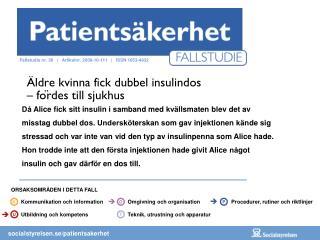 Äldre kvinna fick dubbel insulindos  – fördes till sjukhus