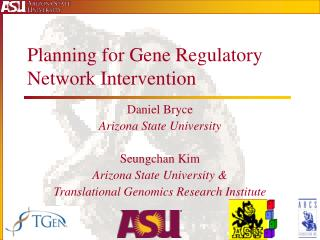 Planning for Gene Regulatory Network Intervention