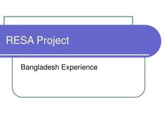 RESA Project