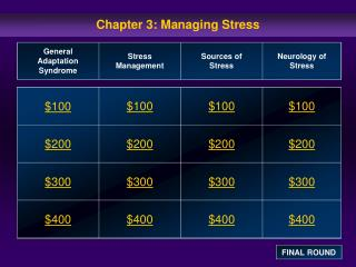 Chapter 3: Managing Stress