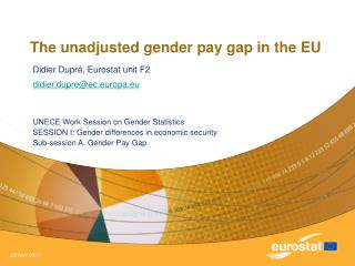 The unadjusted gender pay gap in the EU