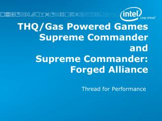 THQ/Gas Powered Games Supreme Commander and Supreme Commander: Forged Alliance