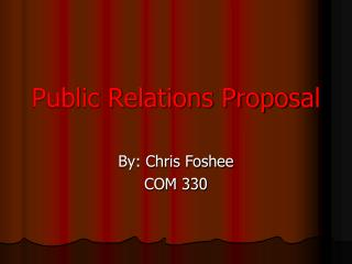 Public Relations Proposal
