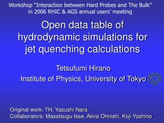 Open data table of hydrodynamic simulations for jet quenching calculations