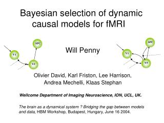 Bayesian selection of dynamic 	causal models for fMRI