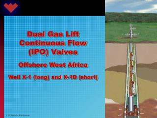 Dual Gas Lift Continuous Flow (IPO) Valves Offshore West Africa Well X-1 (long) and X-1D (short)