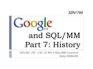 and SQL/MM Part 7: History