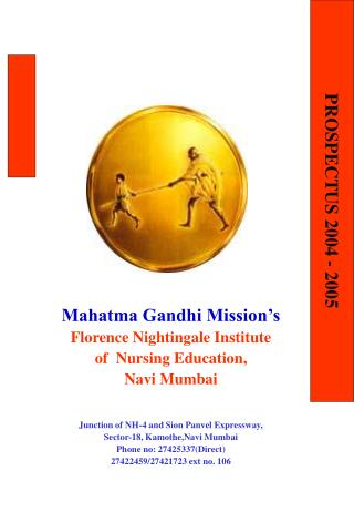 Mahatma Gandhi Mission's Florence Nightingale Institute  of  Nursing Education, Navi Mumbai