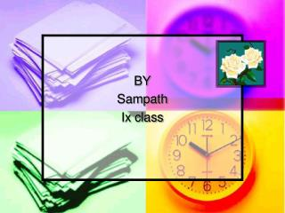 BY Sampath Ix class