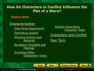 How Do Characters in Conflict Influence the Plot of a Story?