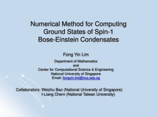 Numerical Method for Computing  Ground States of Spin-1  Bose-Einstein Condensates