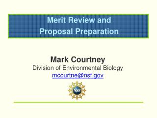 Merit Review and Proposal Preparation