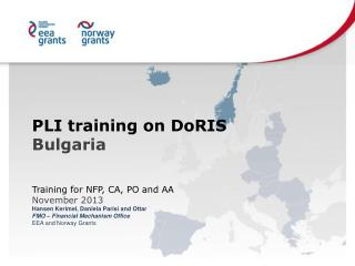 PLI training on DoRIS Bulgaria