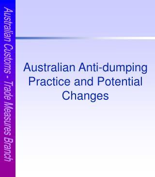 Australian Customs - Trade Measures Branch