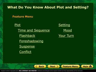 What Do You Know About Plot and Setting?