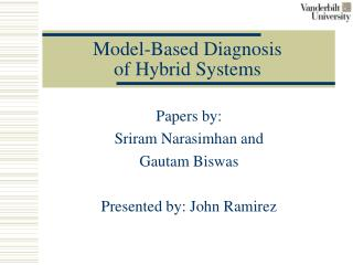 Model-Based Diagnosis  of Hybrid Systems