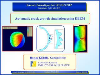 Journée thématique du GRD IFS 2902 Compiègne 3 et 4 juin 2010