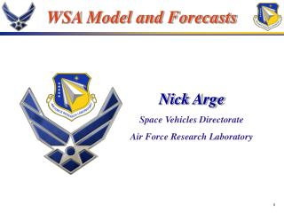 WSA Model and Forecasts