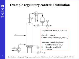 Example regulatory control: Distillation