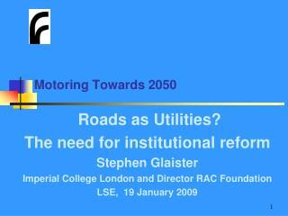 Motoring Towards 2050