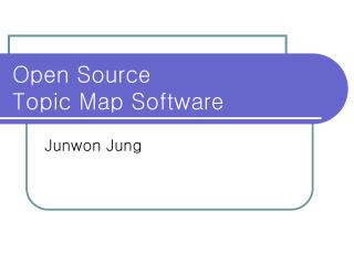 Open Source  Topic Map Software