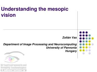 Understanding the mesopic vision