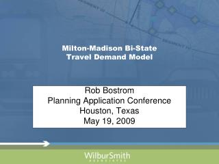 Milton-Madison Bi-State  Travel Demand Model