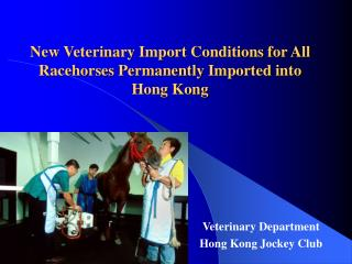 New Veterinary Import Conditions for All Racehorses Permanently Imported into Hong Kong