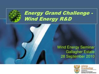 Energy Grand Challenge -Wind Energy R&D