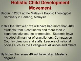 Holistic Child Development Movement