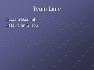 Team Lime