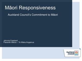 Māori Responsiveness