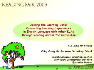 CCC Ming Yin College Ching Chung Hau Po Woon Secondary School English Language Education Section
