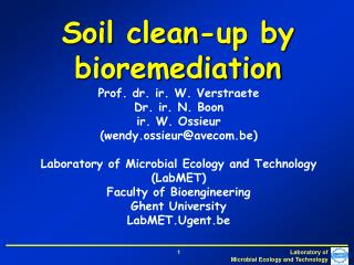 Soil clean-up by bioremediation