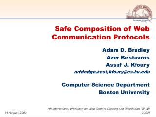Safe Composition of Web Communication Protocols