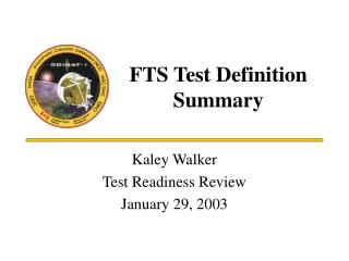 FTS Test Definition Summary