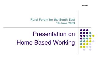 Rural Forum for the South East  10 June 2009