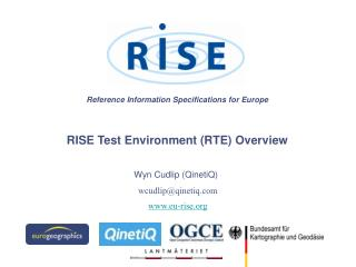 Reference Information Specifications for Europe RISE Test Environment (RTE) Overview