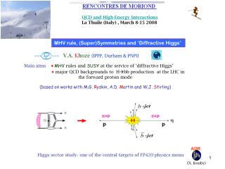 MHV rule, (Super)Symmetries and 'Diffractive Higgs'