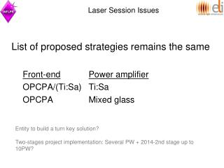 Laser Session Issues