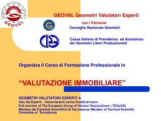 """Organizza il Corso di Formazione Professionale in  """"VALUTAZIONE IMMOBILIARE"""""""