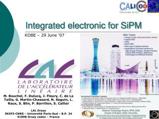 Integrated electronic for SiPM