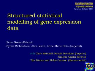 Structured statistical modelling of gene expression data