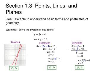 Section 1.3: Points, Lines, and Planes