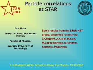 P article correlations at STAR